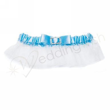 Wedding Classic Garters with Buckle Something Blue - Wedding Wish Image 1