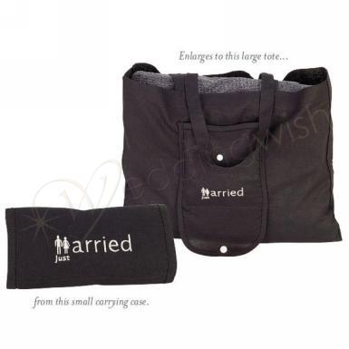"Wedding ""Just Married"" Tote Bag - Wedding Wish Image 1"
