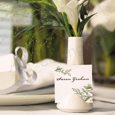 Wedding  Mini Vase & Place Card Holders x 6 Image 1