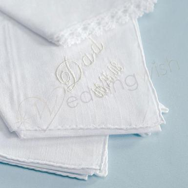Wedding Gentleman's Plain Handkerchief - Wedding Wish Image 1