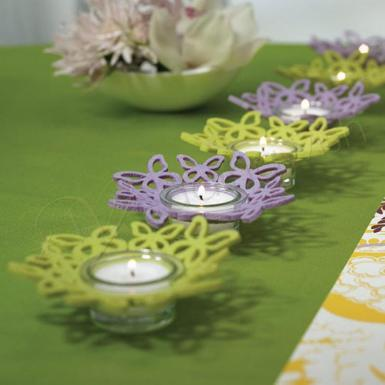 Wedding Felt Butterfly Ring Candle Holders - Wedding Wish Image 1