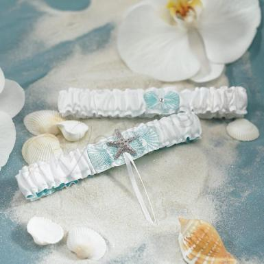 Wedding  Seaside Allure Garter Set Image 1