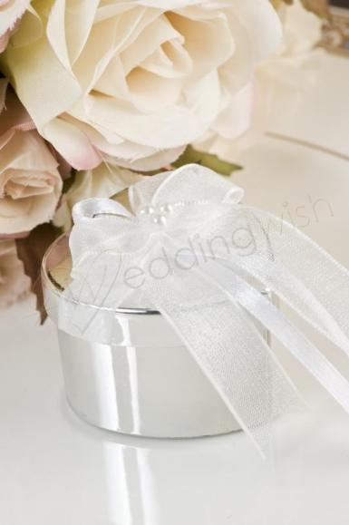 Wedding Heart Favour Gift Box with Satin Bow x 6 - Wedding Wish Image 1