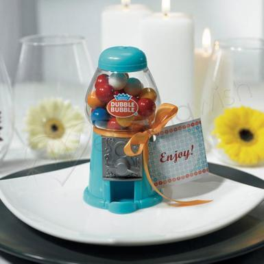 Wedding Mini Classic Blue Gumball Dispenser - Wedding Wish Image 1