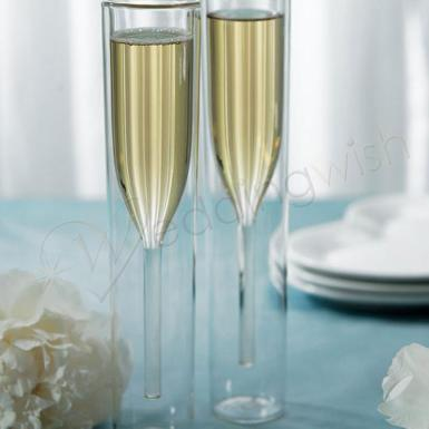 Wedding  Contemporary Double-walled Champagne Flutes Image 1