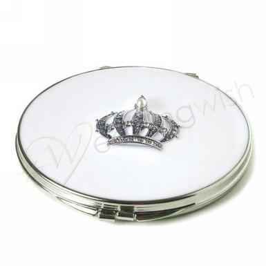 "Wedding ""Crown Princess"" Compact Mirror - Wedding Wish Image 1"