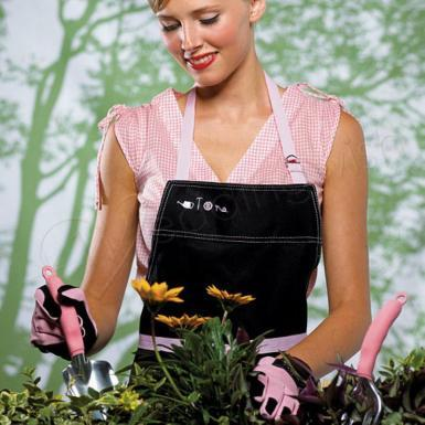 Wedding Hello Dolly - Apron & Glove Set in Pink - Wedding Wish Image 1