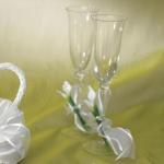 Bridal Beauty Calla Lily Toasting Set image