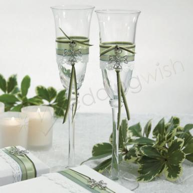 Wedding Celtic Charm Toasting Set - Wedding Wish Image 1