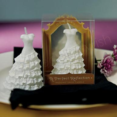 Wedding A Perfect Reflection - Wedding Dress Mini Candles x 6 - Wedding Wish Image 1