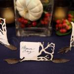 Metal Leaf Shaped Card Holders with Autumn Bronze Finish image