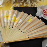 Tropical Fan with Romantic Plumeria Floral Details image