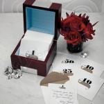 Wooden Memory Note Box with Anniversary Stationery image