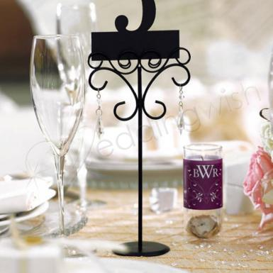 Wedding  Ornamental Wire Stationery Holders - Tall Image 1