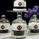 Miniature Glass Bell Jar with White Fluted Base image