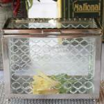 Decorative Glass Box with Mirror Base image