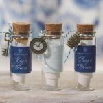 Mini Clear Glass Bottle with Cork x 6 image
