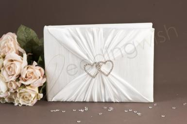 Wedding Crystal Hearts Guest Book - Wedding Wish Image 1