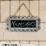 Large Scalloped Frame Tin Signs with Chalkboard image