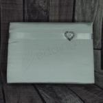 Satin Guest Book with Heart image