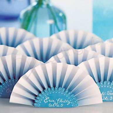Wedding  Paper Fan Place Card Image 1
