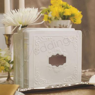 Wedding Porcelain Book Vase Set - Wedding Wish Image 1