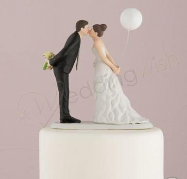 Wedding Leaning in for a Kiss - Balloon Wedding Cake Topper - Wedding Wish Image 1