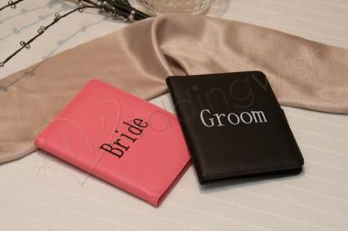 Wedding Bride and Groom Passport Wallets - Wedding Wish Image 1