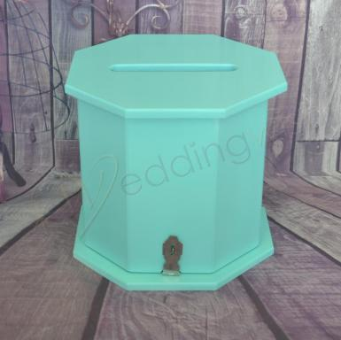 Wedding  Octagon Timber Card Box - Various Colours Image 1
