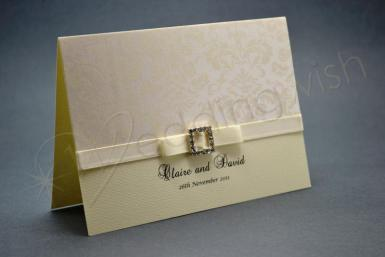 Wedding Ivory Romance Landscape Style A6 Invitation and Envelope - Wedding Wish Image 1