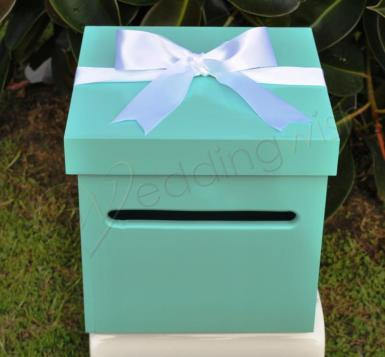 Wedding Tiffany Inspired Wishing Well Box - Wedding Wish Image 1