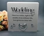 Wooden Hanging Plaque with Wedding Poem image