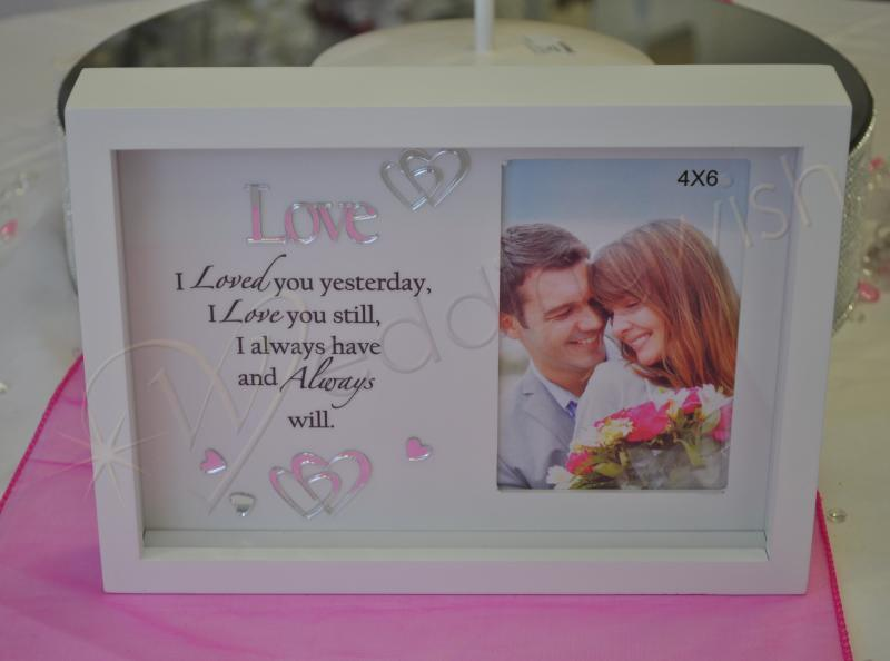 Wedding Love Message Shadow Photo Frame - Wedding Wish