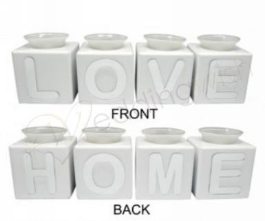 Wedding  Love/Home Block Tealight Candle Holders Image 1