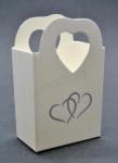 Double Hearts Cake Box x 10 image