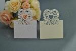Heart Laser Cut Placecards Tent Fold x 20 image
