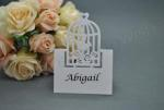 Birdcage Laser Cut Place Cards x 20 - White or Ivory image