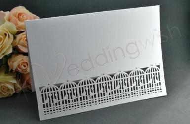 Wedding  Birdcage Blank Cards with Envelopes x 10 Image 1
