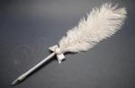 Ostrich Feather Pen with Diamante Heart image