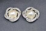 Pearl and Diamante Buckles x 2 image