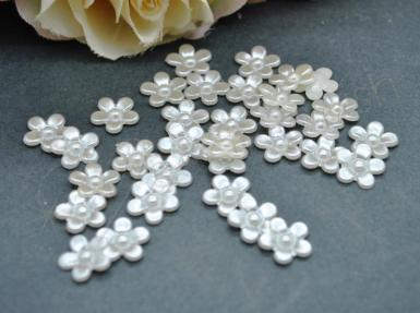 Wedding  Pearl Flower Flat Back Embellishments Image 1
