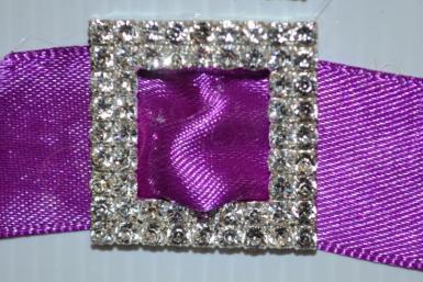 Wedding  Diamante Square Dual Layer Buckle Large x 10 Image 1