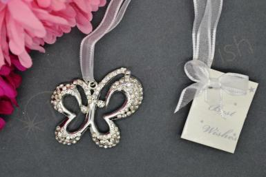 Wedding Deluxe Diamante Butterfly Charm - Design 2 - Wedding Wish Image 1