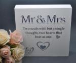Mr and Mrs Poem Timber Block Sign image