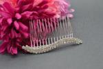 Double Crystal Side or Veil Comb - 2 rows image