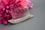 Double Crystal Side or Veil Comb - 3 Rows image