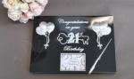 21st Birthday Guest and Memories Book Black and Silver image