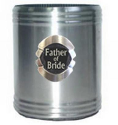 Wedding Father of the Bride or Groom Stubby Coolers - Wedding Wish Image 1