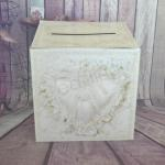 Vintage Lace Design Cardboard Wishing Well Card Box image