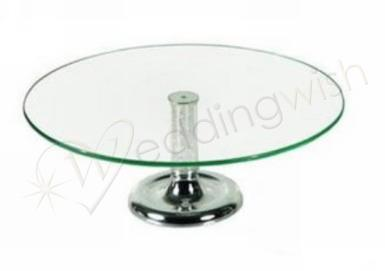 Wedding Crystal Stem Cake Stand - Wedding Wish Image 1